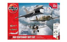Airfix 1/72 Model Kit 050181 RAF Centenary Gift Set Camel 2F.1, Spitfire Mk.Ia, Typhoon F.Mk.2